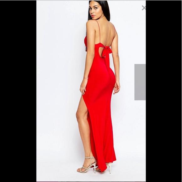 e1d423782e0 Slinky Fishtail Maxi Dress by Club L